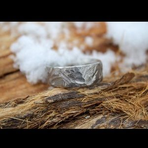 925 Sterling Hammered Ring